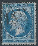 Lot N°41498   N°22, Oblit étoile Chiffrée 15 De PARIS (R.Bonaparte) - 1862 Napoléon III