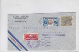 AIRMAIL-KURT WULFF REPRESENTACIONES. COLOMBIA TO GERMANY-TBE-BLEUP - Guatemala