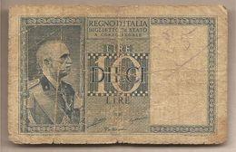 """Italia - Banconota Circolata Da 10 Lire """"Impero"""" - 1935 - [ 1] …-1946 : Kingdom"""