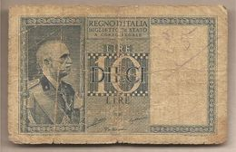 "Italia - Banconota Circolata Da 10 Lire ""Impero"" - 1935 - [ 1] …-1946 : Koninkrijk"