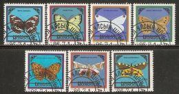 Mongolia 1986 Mi# 1776-1782 Used - Butterflies - Farfalle