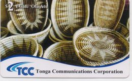 TONGA PREPAID PHONECARD TCC TRADITIONAL BASKETS  2$- Expire Date 31/12/12- USED(bx1) - Tonga