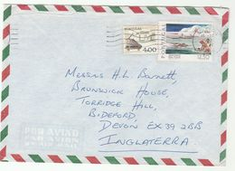 1978 Air Mail PORTUGAL COVER Stamps SWIMMING , WRITING To GB - 1910-... Republic