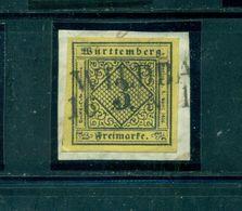 Württemberg, Wertziffer Im Quadrat Nr. 2 A, Gestempelt Wildbach Auf Briefstück, Geprüft BPP - Wuerttemberg