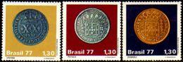 Brasil C 1002/04 Moedas Do Brasil Colonial 1977 NNN - Brasilien