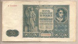 Polonia - Banconota Circolata Da 50 Zloty P-102 - 1941 - Polonia
