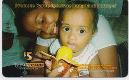 MICRONESIA PREPAID PHONECARD PROMOTE KARAT,THE STATE BANANA OF POHNPEI  5$-USED(bx1) - Micronesia