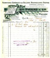 FA 969 /  FACTURE   SELLERIE BOURRELLERIE  ETS FIGEAT  FALAISE - France