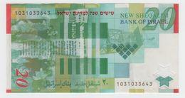 ISRAEL 2008 20 SHEKELS OVERPRINT 60 YEARS TO ISRAEL CIRCULATED - Israel