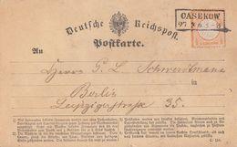 DR Karte EF Minr.14 R2 Casekow 27.3. - Briefe U. Dokumente