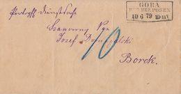 DR Portopfl. Dienstsache R3 Gora Reg. Bez. Posen 10.6.79 Gel. Nach Borek Nachporto - Deutschland