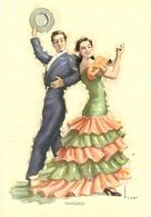 CPA - Tanguillo - Illustration De Tuser - Flamenco, Cadiz - Dances