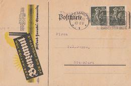 DR Werbekarte Der Firma Benzanul Chemnitz Mef Minr.2x 243 Chemnitz 31.7.23 - Deutschland