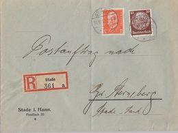 DR R-Brief Postauftrag Mif Minr.466,473 Stade 31.10.32 - Briefe U. Dokumente