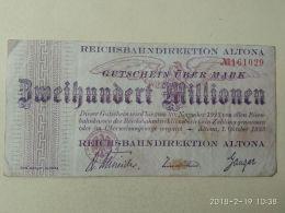 Altona 200 Milioni Mark 1923 - [11] Emissioni Locali