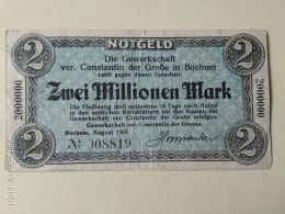 Bochum 2 Milioni Mark 1923 - [11] Emissioni Locali