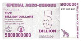 Zimbabwe - Pick 61 - 5.000.000.000 (5000000000) Dollars 2008 - Unc - Zimbabwe