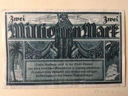 Bremen 2 Milioni Mark 1923 - [11] Emissioni Locali