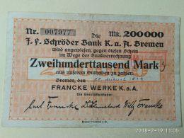 Bremen 200000 Mark 1923 - [11] Emissioni Locali
