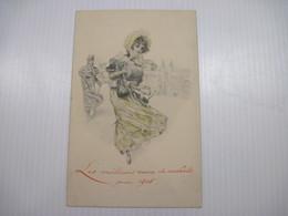 CPA  Les Meilleurs Voeux Et Souhait Pour 1908  T.B.E. Très Belle Carte - Año Nuevo