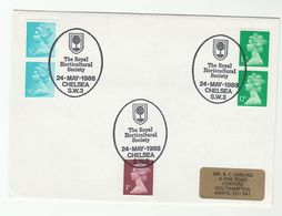 1988 GB ROYAL HORTICULTURAL SOCIETY Chelsea EVENT COVER Tree Stamps - Trees
