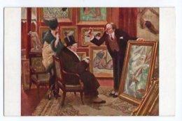 (Peintures Tableaux) 844, Lapina 1447 Salon De Paris, A Guiilaume, Le Boniment - Pintura & Cuadros