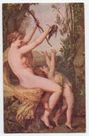 (Peintures Tableaux) 856, Lapina 0885 Manufacture Des Gobelins, J Lefebvre, Nymphe Et Bacchus, Nue Nu Nude - Pintura & Cuadros