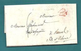Dispersion D'une Collection De Paris. Paris Pour Rennes. 1823 - Marcophilie (Lettres)