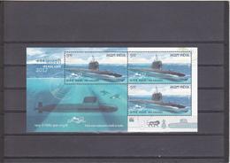 INDIA 2017 Submarine Arm Of Indian Navy MINIATURE SHEET MNH - Inde