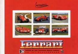 Grenada - Ferrari Racing Cars - 125 F1 - Tipo 625 - P4 - 312P - 312 F1 - 312B  -  6v Sheet Neuf/Mint - Automobile