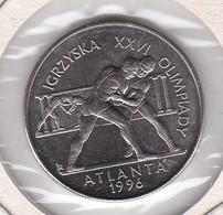 MONEDA DE POLONIA DE 2 ZLOTYCH DEL AÑO 1995 LUCHA  (COIN)  ATLANTA 1996 OLIMPIC GAMES - Polonia