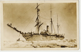 """North Pole Real Photo Revenue Cutter """" Bear """" In The Arctic Voilier 3 Mats Written Kodiat 1948 - TAAF : Terres Australes Antarctiques Françaises"""