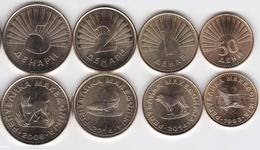 Macedonia - Set 4 Coins - 50 Deni + 1 + 2 + 5 Denari 1993 - 2014 UNC - Lemberg-Zp - Macédoine