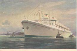 CPA-1955-PAQUEBOT-POLOGNE-SS BATORY-CIE POLISH OCEAN LINES-TBE - Paquebots