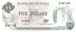 Guyana - Pick 22f - 5 Dollars 1992 - Unc - Guyana