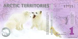 Arctic Territories - 1 Polar Dollar 2012 - Unc - Fantasy Banknote - Private Issue - Not A Legal Tender - Billets