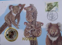 KOREA 100 W 1996 ARGENTO PROOF SILVER 999 KOALA ENDANGERED WILDLIFE ORIGINAL STAMP PESO 7g - Korea (Zuid)