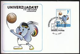 Yugoslavia Croatia Zagreb 1986 / World University Games 1987 / UNIVERZIJADA '87 / Volleyball / Mascot ZAGI - Pallavolo