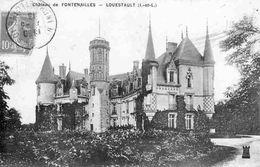 37Z84 - Lot 2 Cpa LOUESTAULT: Château De Fontenailles + Intérieur De L'Eglise - Autres Communes