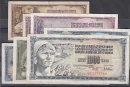 Yugoslavia Several Banknotes - Yougoslavie