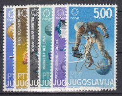 Yugoslavia Republic 1967 Space Cosmos Exploration Mi#1216-1221 Mint Never Hinged - 1945-1992 Socialist Federal Republic Of Yugoslavia