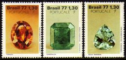 Brasil C 1016/18 Pedras Preciosas Portugale 1977 NNN - Brasilien