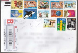 France Modern Stamps Travelled Cover To Serbia - Cartas