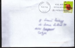 Slovenia Modern Stamps Travelled Cover To Serbia - Slovénie
