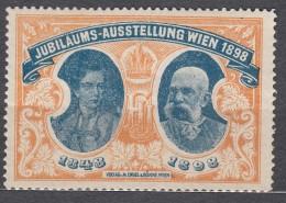 Austria 1898 Nice Vignette, Postfrisch - 1850-1918 Empire