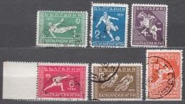 Bulgaria Sport Balkan Games Changed Colour Stamps 1933 Mi#252-257 Used - Francobolli