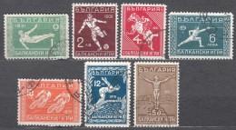 Bulgaria 1931 Sport Balkan Games Mi#242-248 Used - Francobolli