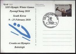 Croatia Zagreb 2018 / XIII Olympic Winter Games PyeongChang South Korea / Croatia On Olympics / Bobsleigh - Jeux Olympiques
