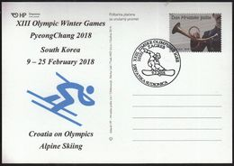 Croatia Zagreb 2018 / XIII Olympic Winter Games PyeongChang South Korea / Croatia On Olympics / Alpine Skiing - Jeux Olympiques