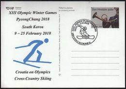 Croatia Zagreb 2018 / XIII Olympic Winter Games PyeongChang South Korea / Croatia On Olympics / Cross Country Skiing - Jeux Olympiques